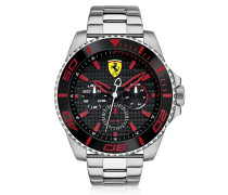 XX Kers Silver and Red Stainless Steel Men's Watch