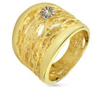 Ring aus 18k Gelbgold offen-gearbeitet mit Diamant