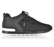 Doda Sneaker aus Neopren und Leder in schwarz