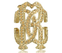 RC Icon Light Gold Ring w/Crystals