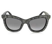FLASH/S IBWEU Cat Eye Sonnenbrille in schwarz & grau