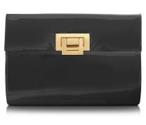 Clutch aus Lackleder in schwarz