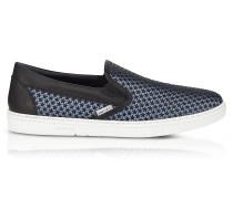 Grove Avion Herren Slip On Sneaker aus Satin mit Mini Gummistar