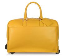 Reisetasche/Trolley aus Leder in sonnengelb