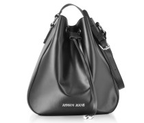 Black Signature Bucket Bag