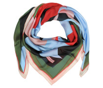 Multicolor Floral Print Silk Shawl