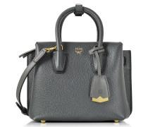 Milla Phantom Grey Mini Umhängetasche aus Leder
