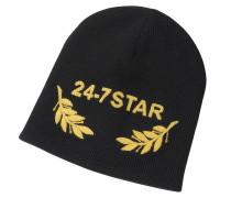 24-7 Star Icon Beanie aus schwarzer Wolle