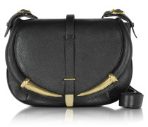 Black Kripton Leather Shoulder Bag