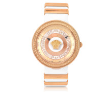 V Metal Icon Golden Women's Watch