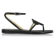 Sandale aus Leder in schwarz mit Knöchelriemchen