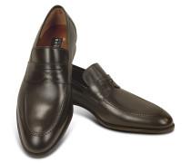 Penny Loafer Schuhe aus dunkelbraunem Leder