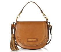 Medium Leather Messenger Bag w/Tassels
