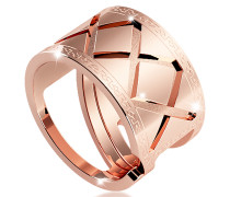 Melrose Ring aus vergoldeter Bronze in rose
