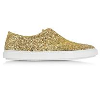 Gold Glitter Sneaker zum Reinschlüpfen