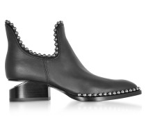 Kori Black Leather Cut Out Booties