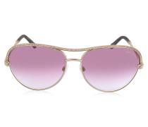 VEGA 1011 Damen Sonnenbrille aus Metal mit Kristallen