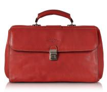 Arzttasche aus echtem italienischem Leder in rot