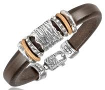 Armband aus Leder und Silber
