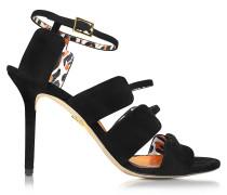 Meryl Sandale aus Wildleder in schwarz