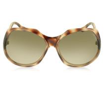 ELY/S 8VMS1 Oversized Sonnenbrille in braun