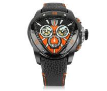 Spyder Chronographenuhr aus Edelstahl in schwarz mit orange