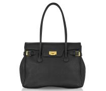 Grosse Handtasche aus geprägtem Leder
