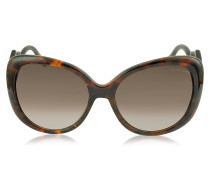 Mintaka 911S 52F Sonnenbrille aus Acetat in havana