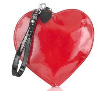Herz Geldbörse aus Lackleder