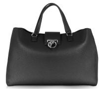 Handtasche aus schwarzem Leder