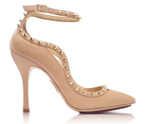 Pimlico Nude Leather Ankle Strap Pump