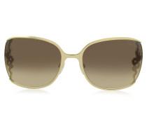 WASAT 1012 Sonnenbrille für Damen Oversized aus Metall