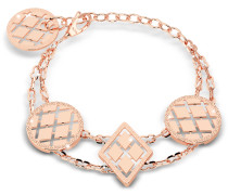 Melrose Rose Gold Over Bronze Bracelet w/Geometric Charms