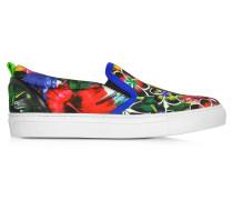 Surfer's Paradise Multicolor Landscape Print Slip on Sneaker