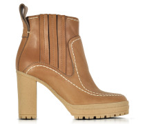 Cuoio Leather High Heel Ankle Boots