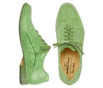Hand gefertigte Schnürschuhe aus italienischem Leder in pistaziengrün