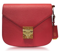 Small Ruby Tan Leather Patricia Park Avenue Shoulder Bag