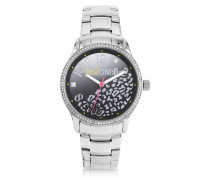 Huge JC 3H Black Dial Silver Stainless Steel Women's Watch