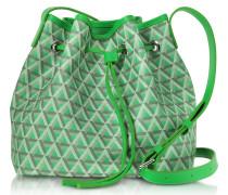 Ikon Small Coated Canvas Bucket Bag