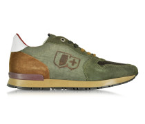 Botticelli Forest Green Suede and Fabric Men's Sneaker