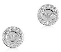 Sterling Silver Signature Round Women's Earrings
