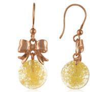 Runde Ohrringe in gelb