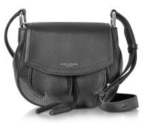 Maverick Black Leather Mini Shoulder Bag
