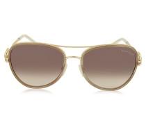 WEZEN 1013 Damen Sonnenbrille im Pilotenstyle aus Metall