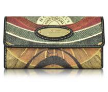 Planetarium Damen Brieftasche aus beschichtetem Canvas mit Reißverschluss