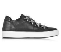 Asylum Herren Sneaker aus schwarzem Leder