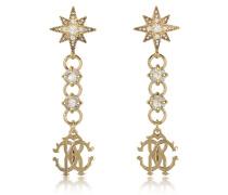 Icon Golden Star Ohrringe mit Kristallen