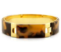 Tortoise Resin and Golden Brass Bracelet