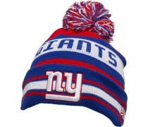 NFL New York Giants Streifen Beanie Mütze Blau