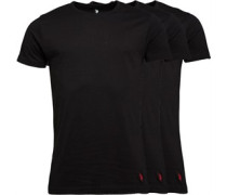 U.S. POLO ASSN. Mens Three Pack T-Shirt Black